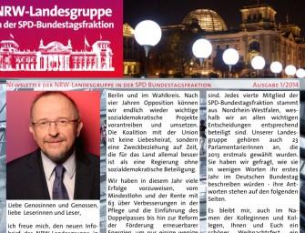 Der neue Newsletter der NRW-Landesgruppe
