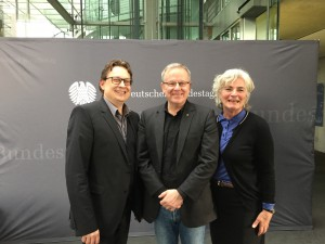 Stefan Schwartze MdB, Wolfgang Jörg MdL und Petra Crone MdB